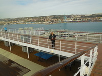 Good walking exercise on 12th deck
