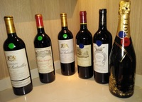 Some of the wine brought on board