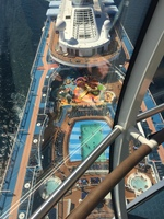 View of top deck from the North Star