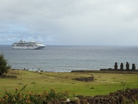 Seaprincess at Easter Island