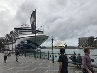 Diamond Princess Docked In Sydney
