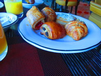 Breakfast pastries from Tuscan Grille