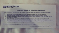 This was attached to our NCL shore excursion tickets for Tangier