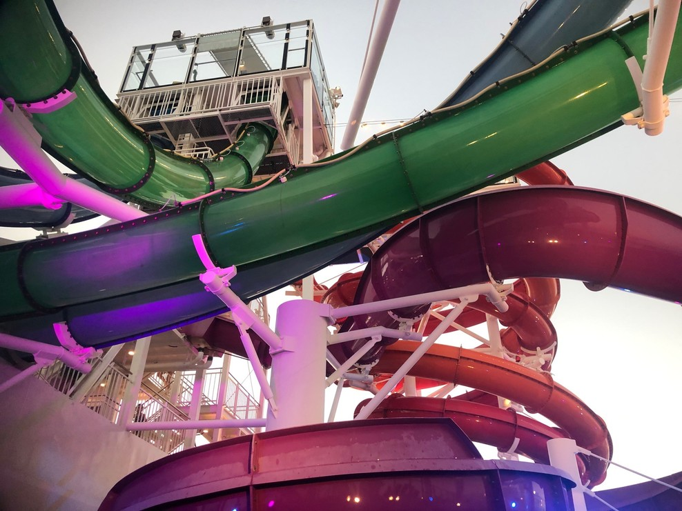 water slides on the Getaway