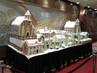 Gingerbread house near the lobby