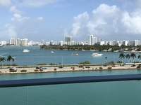 View of South Beach Miami from our veranda before sailing from Miami