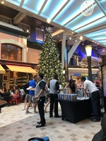 Promenade area on Deck 5 with the Christmas Tree