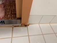 Bathroom, rotted board