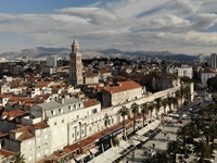 Split, Croatia.  Aerial shot from drone
