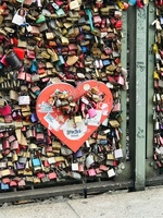 Love lick bridge in Cologne. Our lock is on there forever!❤️