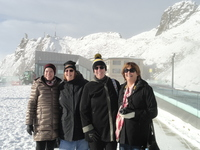 Ladies in our group at the Alps