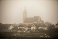 Misty morning in Melk as we cruise the Danube River.