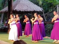 Photo of some of the entertainment at the Luau