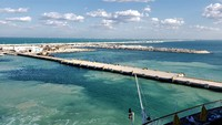 Very long off shore pier in Progreso
