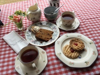 Tea included in Bluff Cove excursion, on china, all hand baked. It is famil