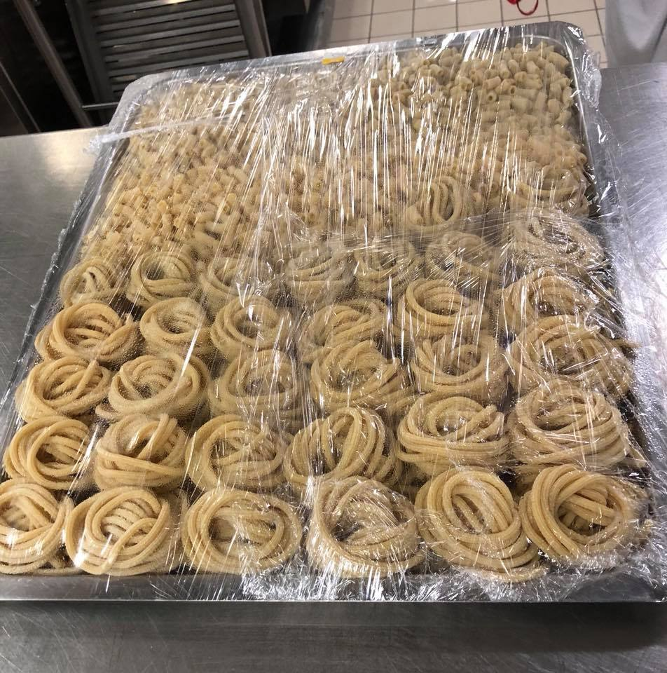 Pasta was made from scratch every day. We took a behind the scenes tour of