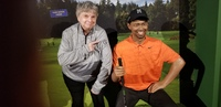 Me and Tiger Woods.  Wax Museum.  My golf pullover is custom.