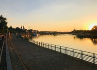 Koblenz, where the Rhine and Mosel rivers meet.