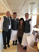 Several members of the excellent ship staff