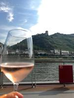 German Rosé Sekt served while sailing th Middle Rhein