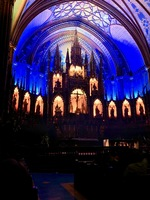 Notre Dame Cathedral altar prior to the Aura Light Show.