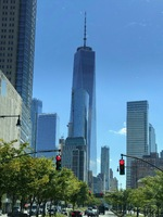 The Freedom Tower, Manhattan, NYC during bus and boat tour.