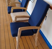 New 'coach class' deck chairs.  Very uncomfortable.