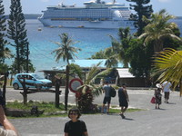 Explorer of the Seas, anchored at Lifou.