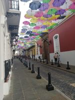 Umbrella Street, Old San Juan