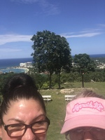 THIS PICTURE WAS TAKEN WITH MY DAUGHTER IN jAMACIA AT A PIT STOP COMING FRO