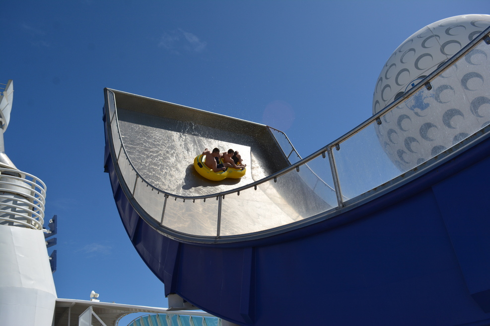 Waterslide onboard the ship