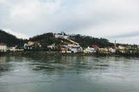 Looking across the Inn River at Passau, Germany.