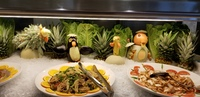 More carvings on the buffet at Garden Cafe.