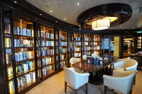 Here's the advertised library from Royal Princess stock photos.  You ca