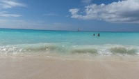 Barbados beach. What can I say  white sand and warm water.  Oh to