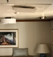 Ceiling vent in lounge