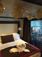 Penthouse suite decorated for Anniversary