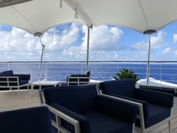 Outside Panorama Lounge on a lovely sea day