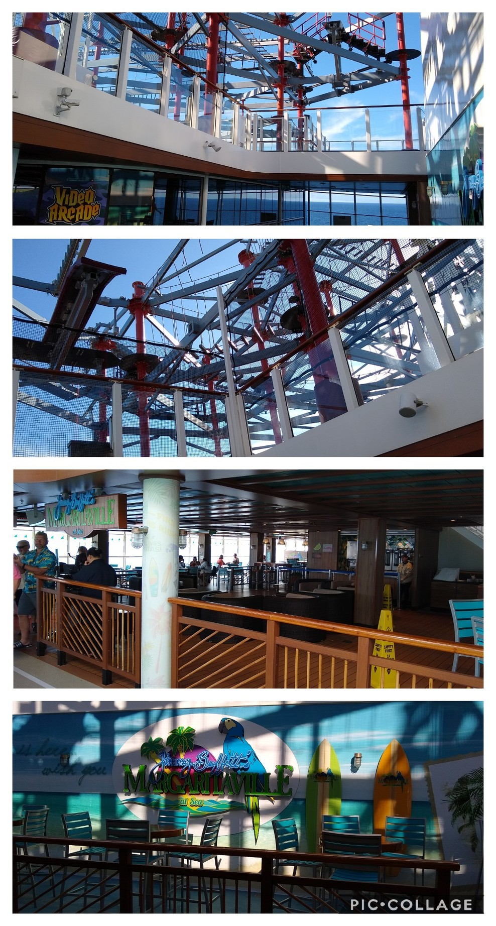 Margaritaville & the Rope Course area, deck 17 and 18 as seen from here