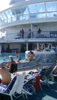 On the Lido Deck pool