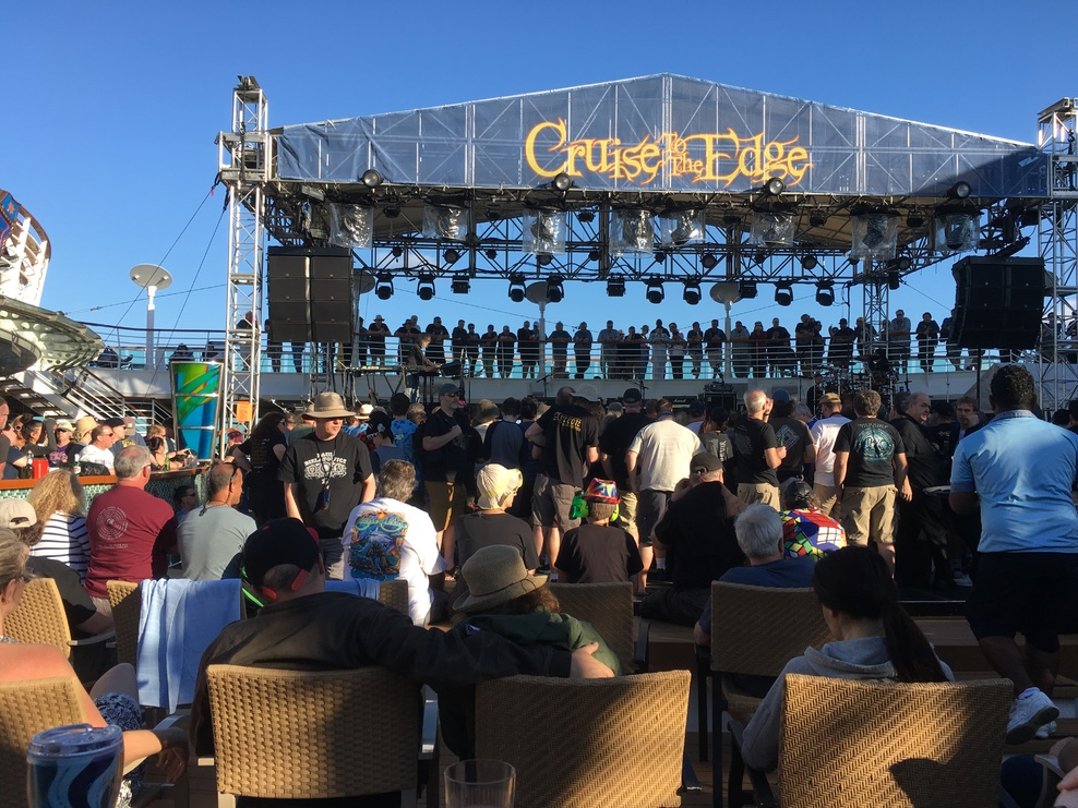 Cruise to the Edge main pool stage