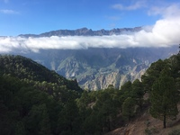 Caldera de Taburiente in the UNESCO biosphere island of La Palma, Canary Is