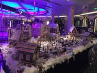 The gingerbread village on the Nieuw Statendam, December, 2019. This was se