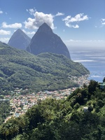 The Pitons.  St. Kitts.