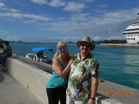 We are walking back to Nassau cruise port, great day