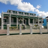 Wedding cake house in Curacao