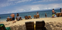 Beautiful Bamboo beach in Jamaica which included food and drinks!