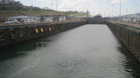 In the Gatun locks