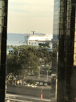 View of Carnival Splendor from our hotel room.