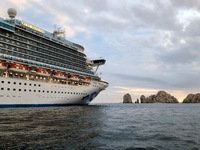 Ruby Princess anchored off shore in Cabo